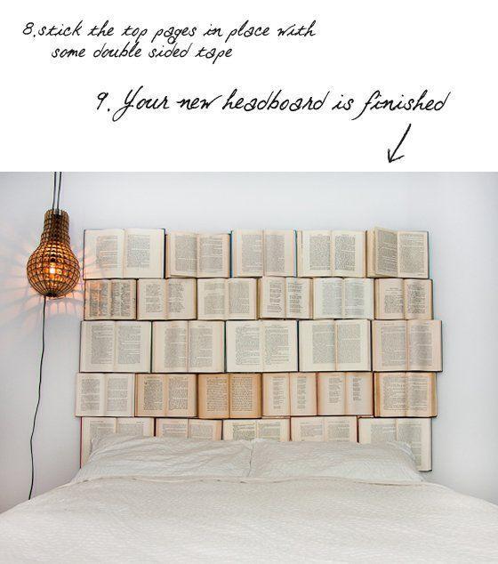 DIY Book Headboard | Book headboard, Cool headboards, Diy ...