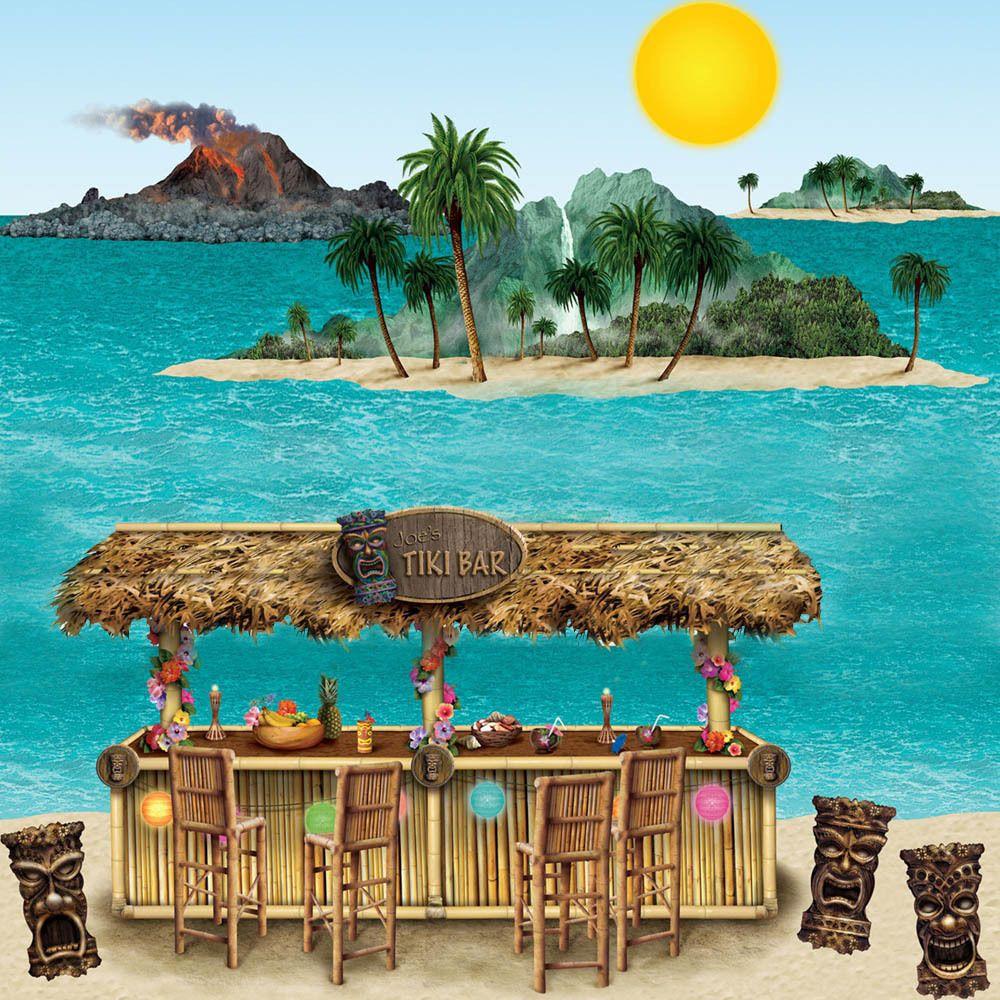 Tropical Hawaiian Scene Party Hawaii Hula Tiki Decorations Create your scene
