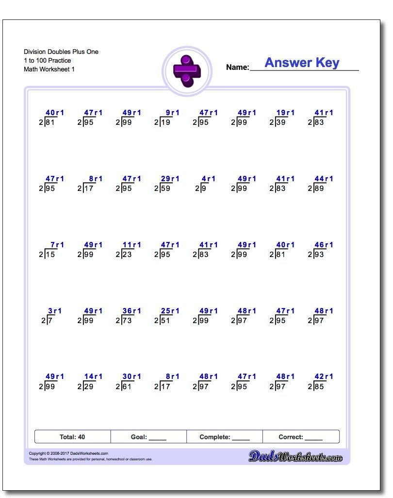 Doubles Plus One Division Worksheets Division Printables Mathprintables Mathworksheets Freedownload Download Ma Division Worksheets Worksheets Division [ 1025 x 810 Pixel ]