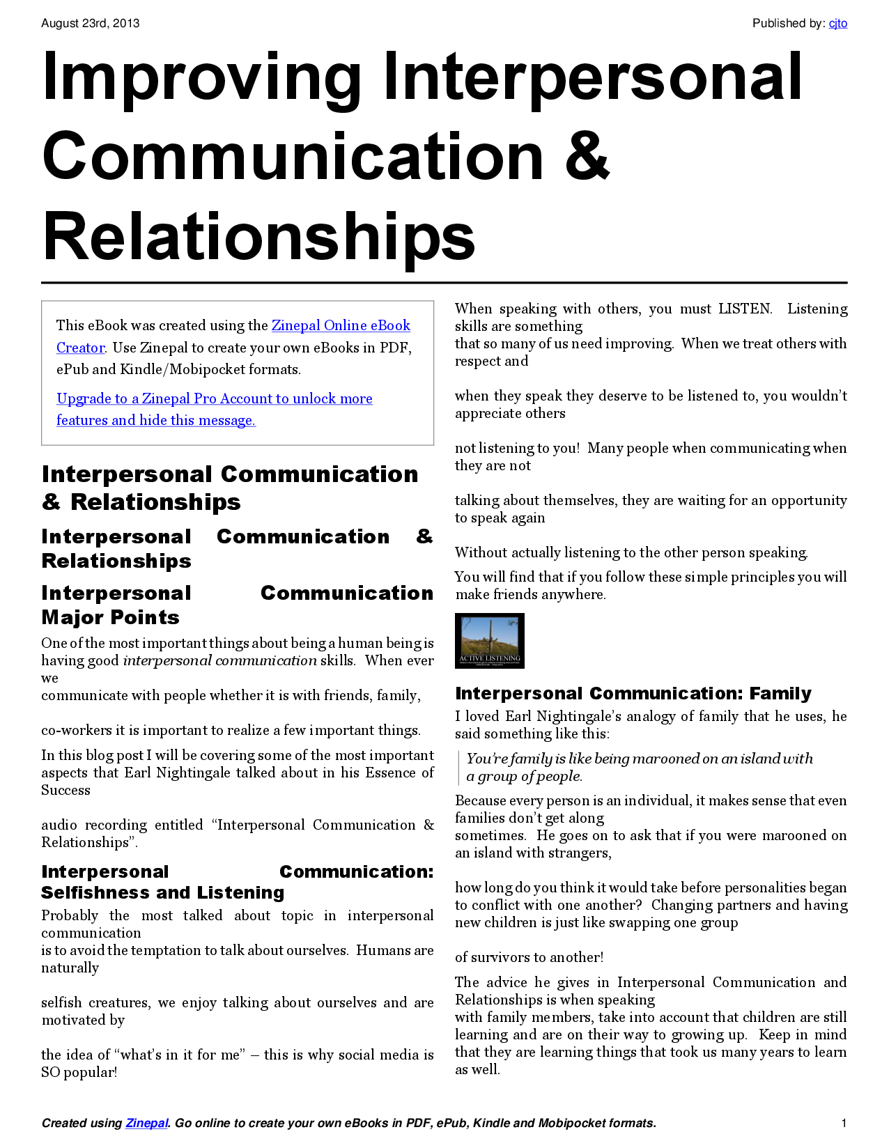 interpersonal relationships articles