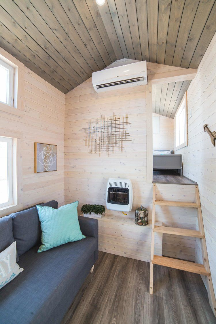 Mini loft bed with slide  Bunkhouse by Uncharted Tiny Homes  Square feet Decking and Twins