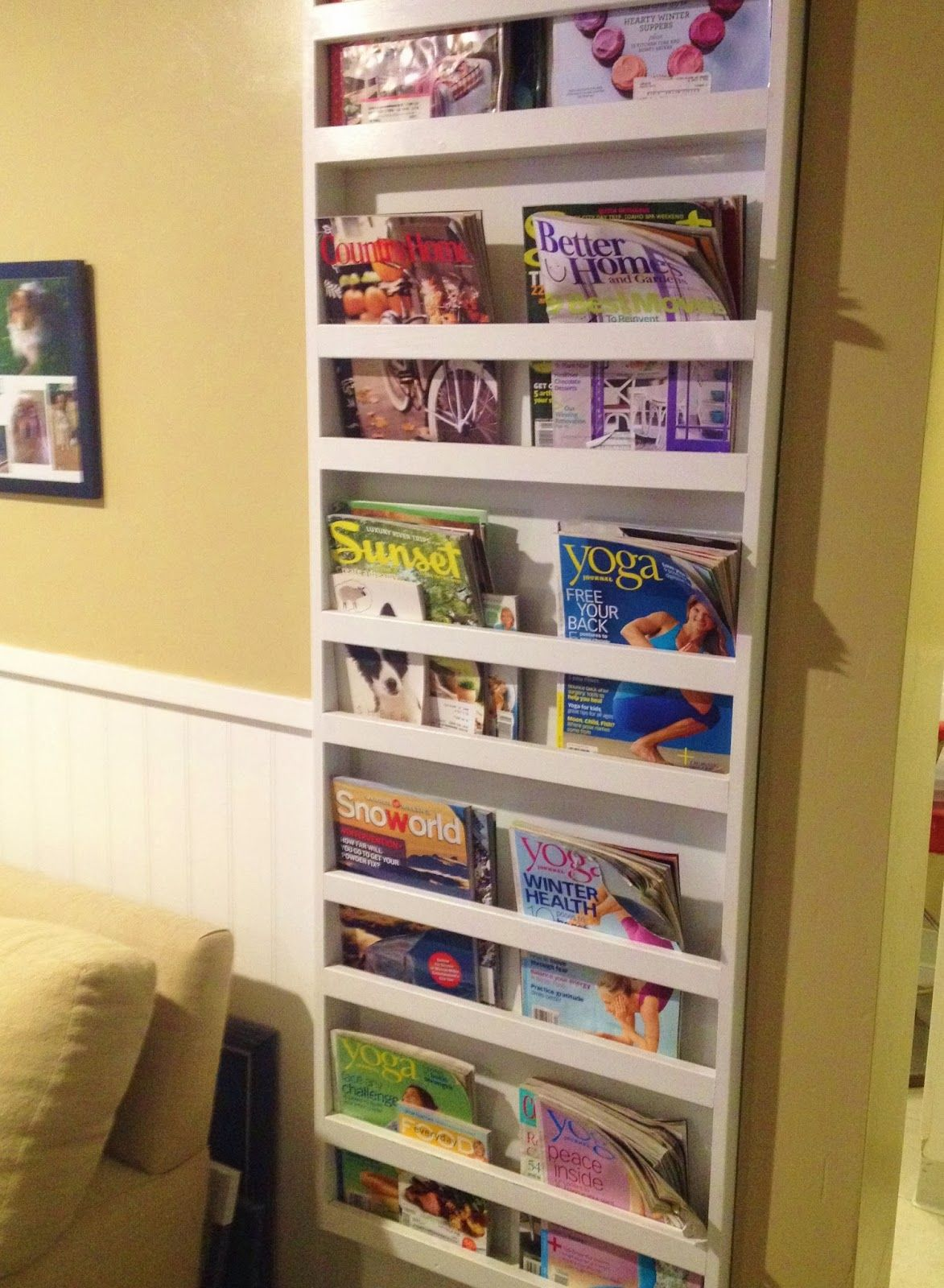 built in magazine rack