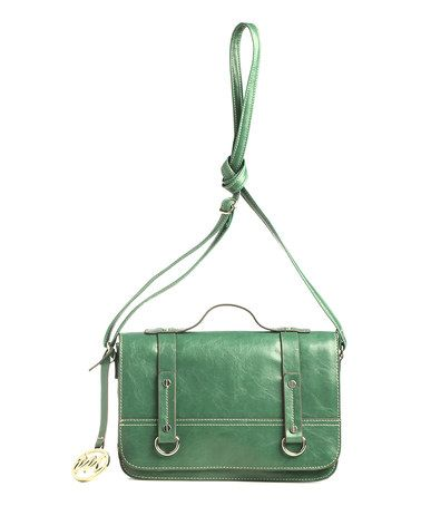 Take a look at this Ivy Green Leather Kimberley Crossbody Bag by emilie m. on #zulily today!