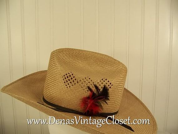 Vintage Bailey URollit Western Straw Hat by DenasVintageCloset e208d49a5db