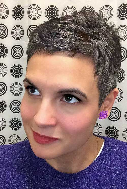 10 Pixie Hairstyles For Gray Hair Pixie Cut 2015 In 2019