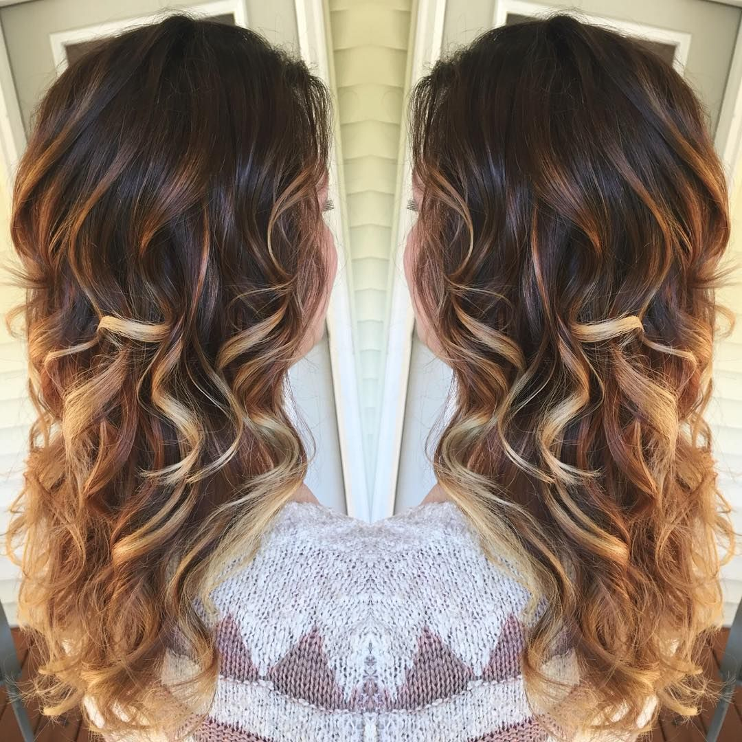 My favorite ombre ♥ Dark chocolate and honey blonde. Colored with ...