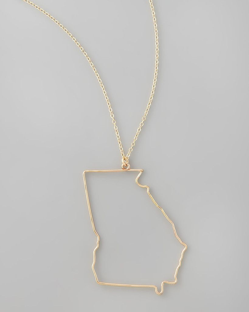 Silver georgia state pendant necklace georgia pendants and delicate details the georgia state pendant necklace is handmade in 14 karat gold fill or sterling aloadofball Gallery