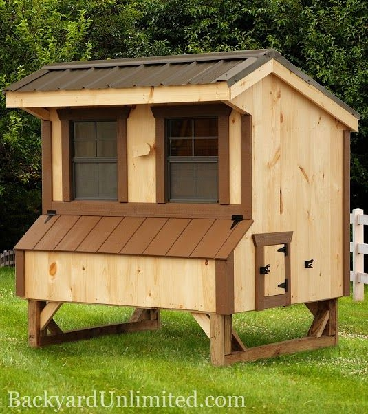 Best 4 X6 Quaker Style Chicken Coop From Backyard Unlimited 640 x 480