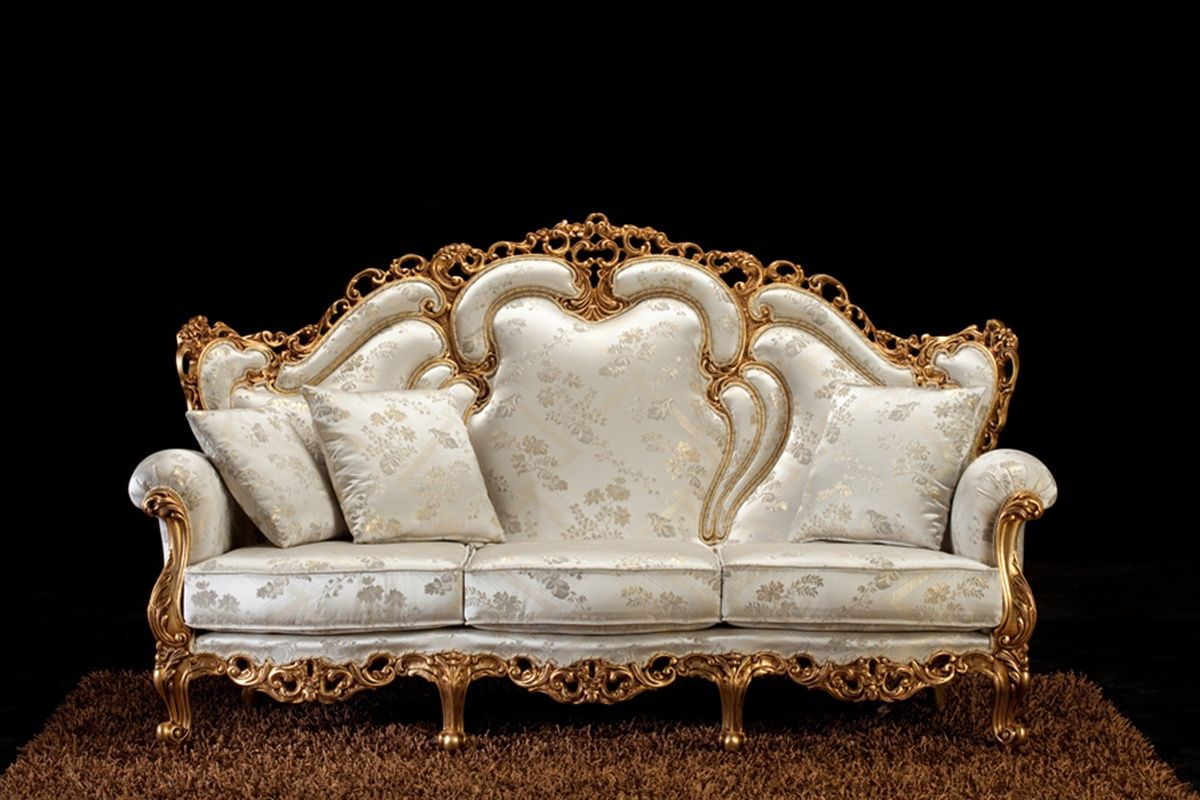Alba 3 Seater Sofa Baroque Sofa With Handmade Carvings Classic Sofa Luxury Home Furniture French Inspired Decor