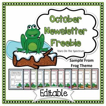Newsletter Templatethis Free Back To School Editable October