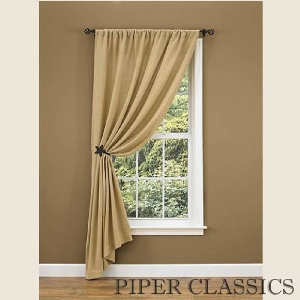 single panel curtain. The Burlap Star 84\ Single Panel Curtain G