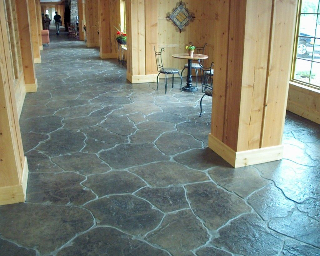 Concrete Floors For Home Interiors Stamped Interior Flooring Commercial Decorative