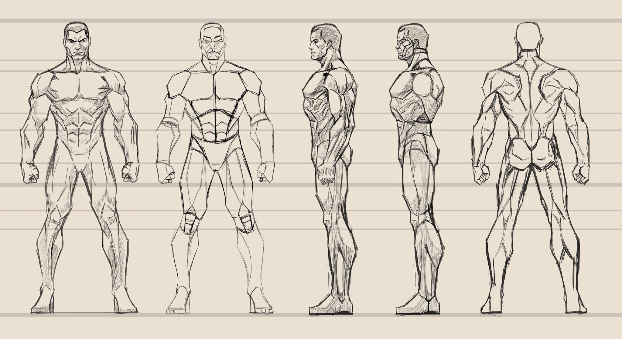Did a male anatomy study in photoshop.   Comic book artwork