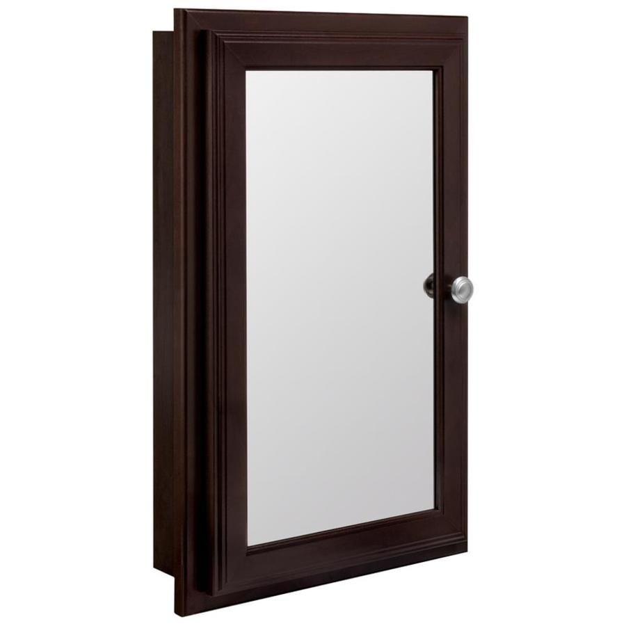 Mirrored Medicine Cabinet Lowes Stunning Style Selections 1575In X 2575In Rectangle Surfacerecessed Design Decoration
