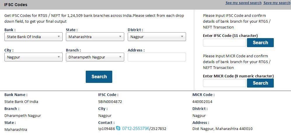 bank of india ifsc code nagpur