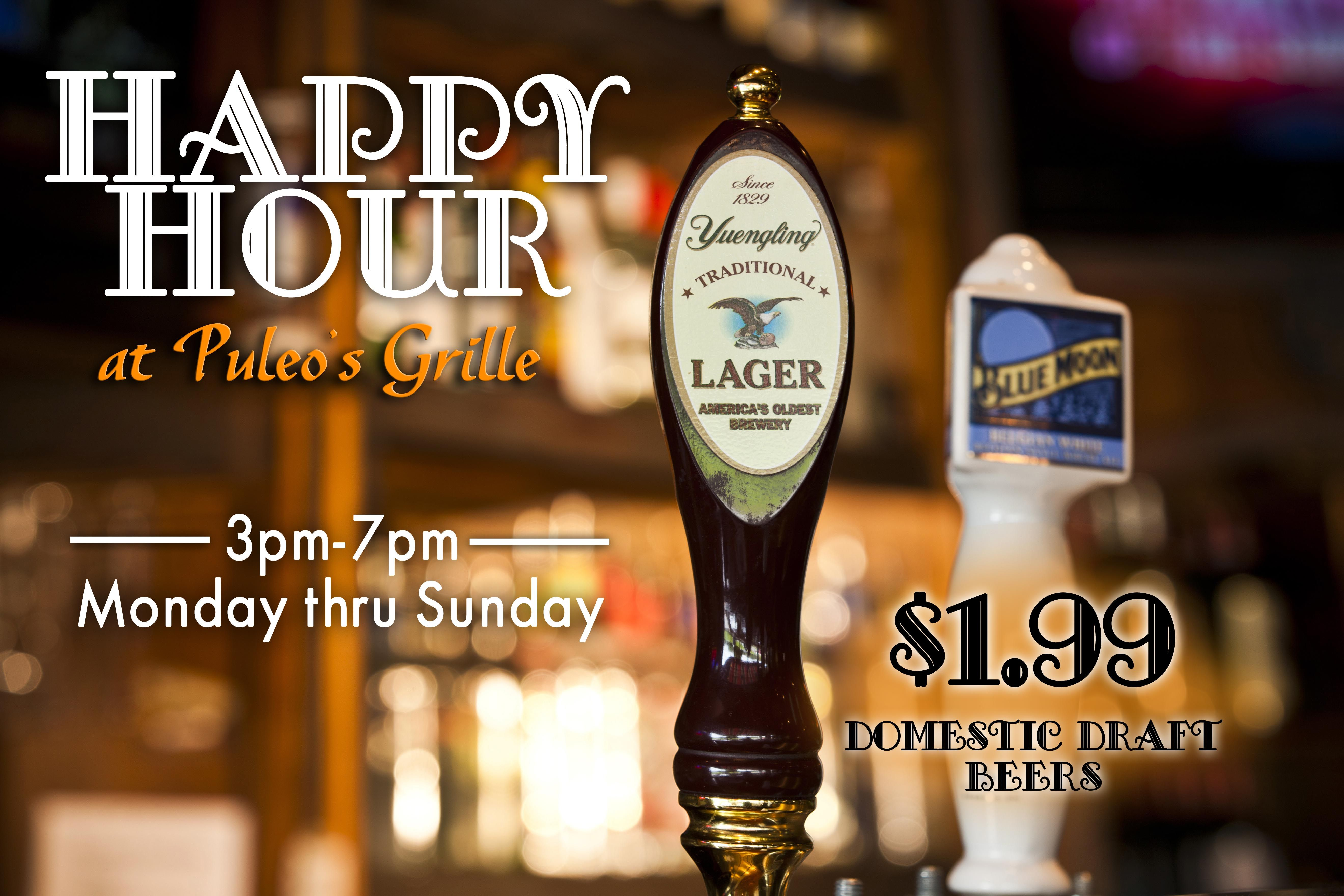 Beer Specials Happy Hour Beer Specials At Puleo S Grille Puleo S Grille