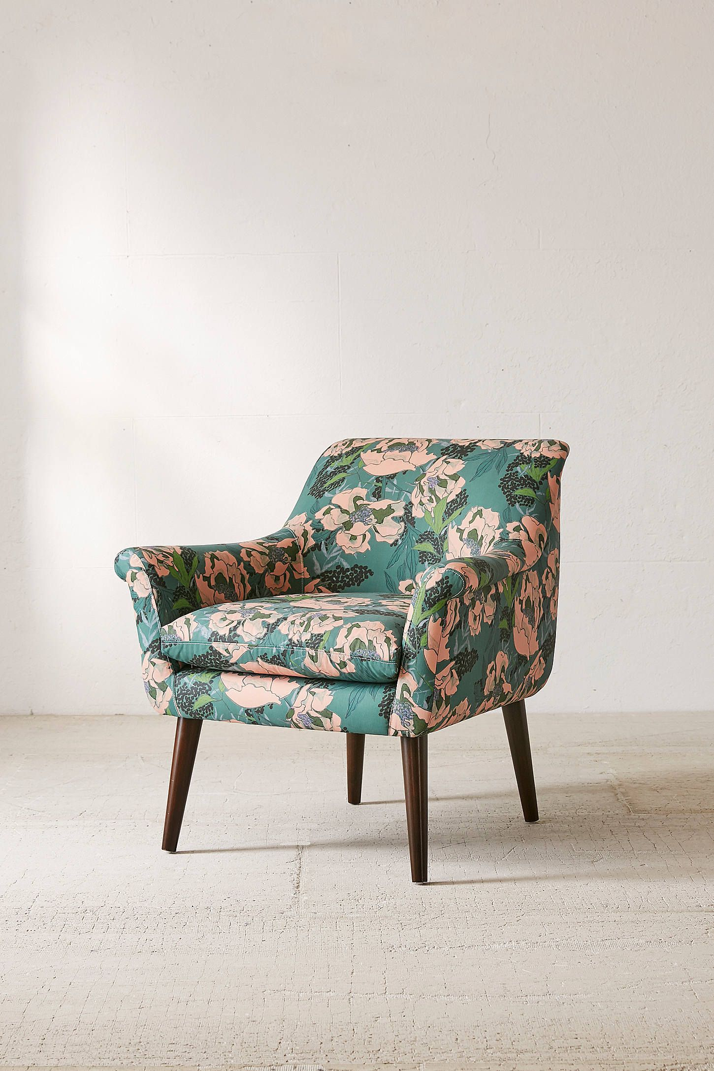 Polly Floral Print Arm Chair Armchair Chair Floral Chair