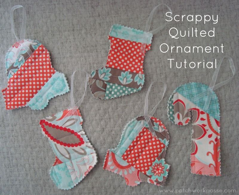 Quilt as you go Scrappy Ornaments Tutorial -   Ornament tutorial ... : how to make quilted christmas ornaments - Adamdwight.com