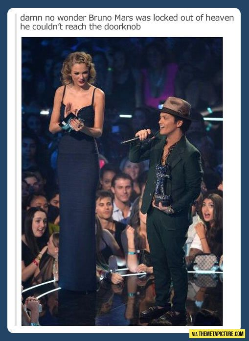 Bruno Mars Locked Out Of Heaven Locked Out Of Heaven Funny Tall Women