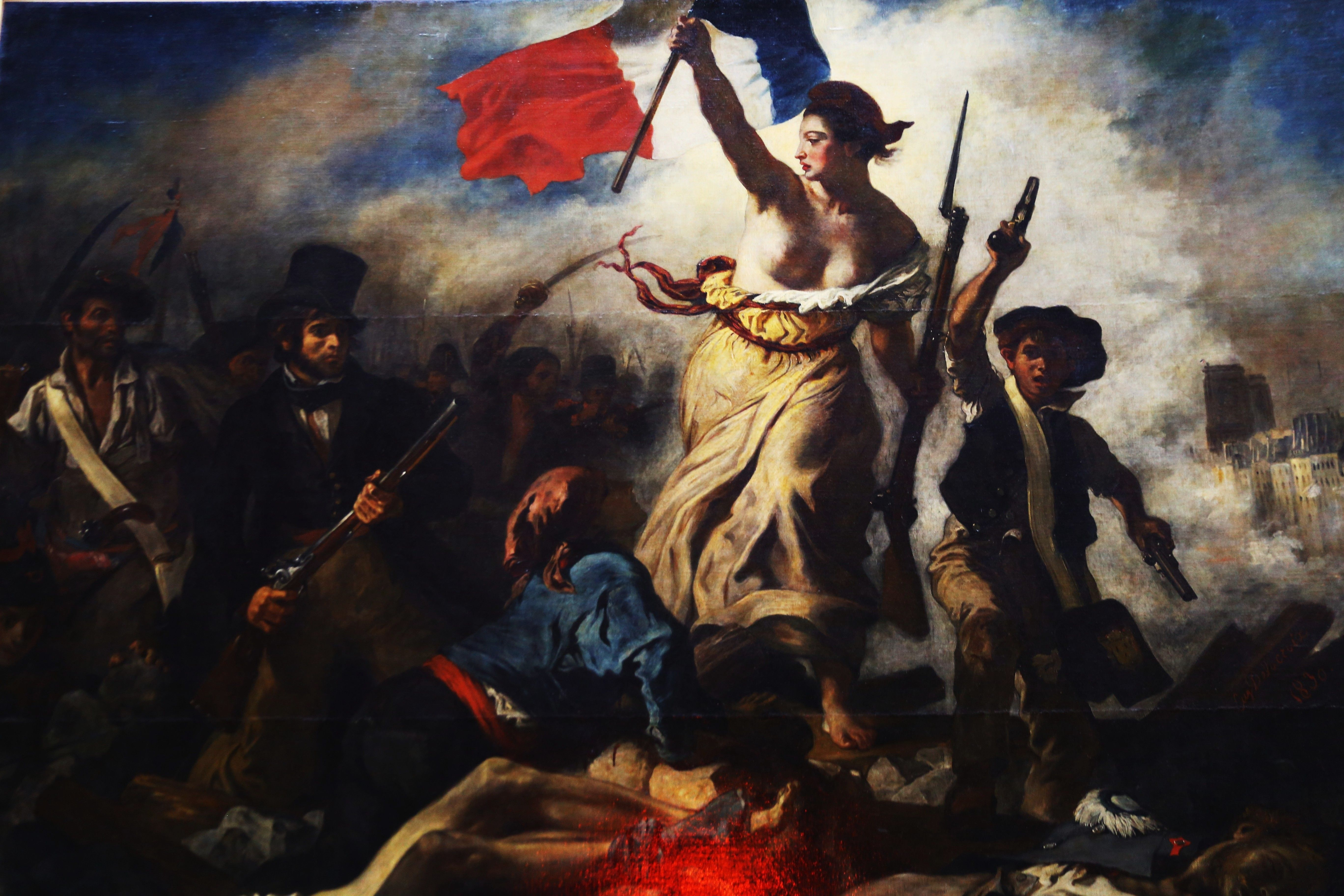 Paris France The Louvre July 28 Liberty Leading The People By Eugene Delacroix Liberty Leading The People French Revolution Painting Delacroix Paintings