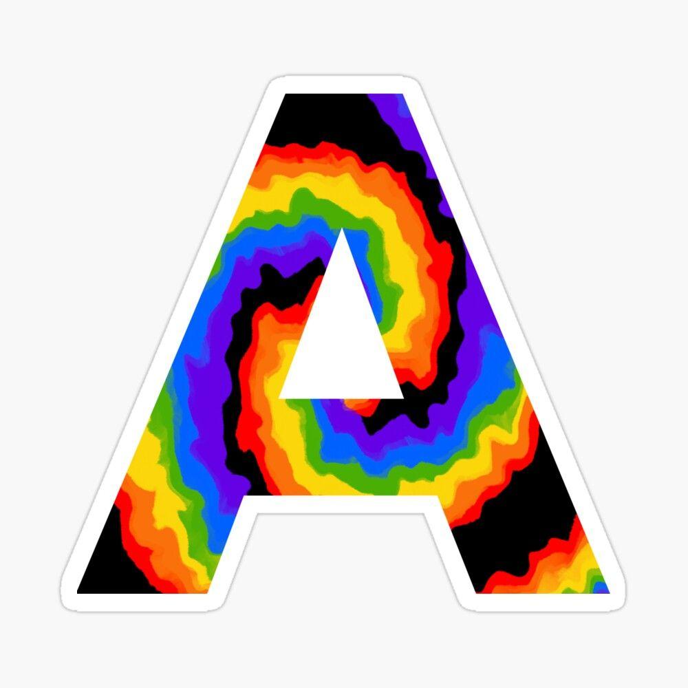 Letter A Rainbow Sticker Rainbow Stickers Lettering Rainbow