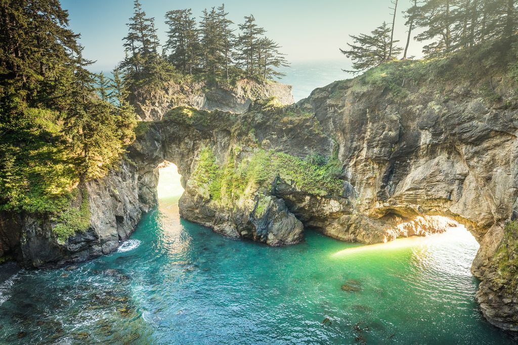 Natural bridges natural bridge oregon coast nature