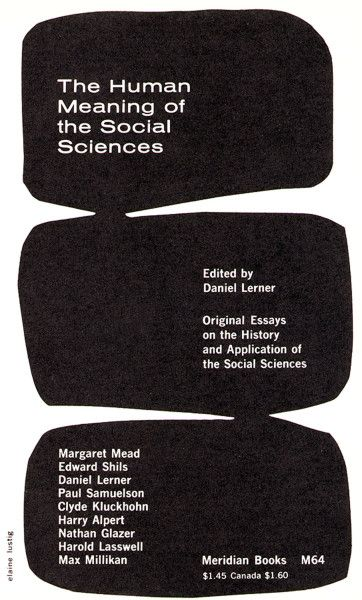 The Human Meaning of the Social Sciences / Elaine Lustig Cohen