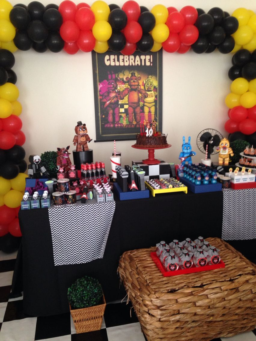 Ideas five nights at freddy party - Fnaf Birthday Party