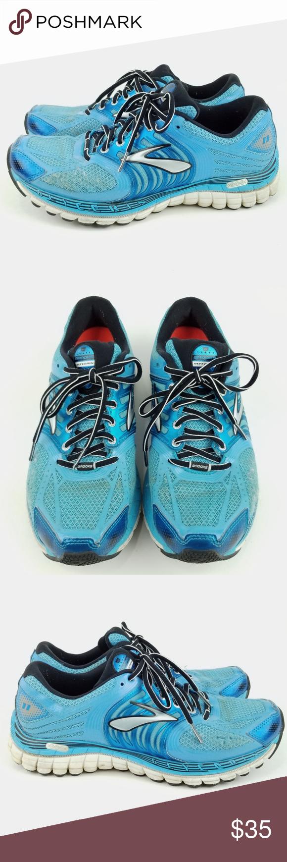 af7759f9f54 Brooks Glycerin 11 Running Shoe 9.5 EF52 Brooks Glycerin 11 Womens Running  Shoe Size 9.5 Blue Athletic Sneaker Good Used Condition