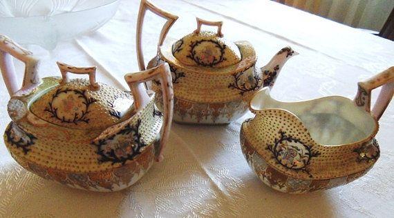 A A VANTINE & COMPANY 3 Piece Porcelain Coralene by edithvictorias, $32.00