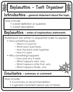 Writing an explanation text structure