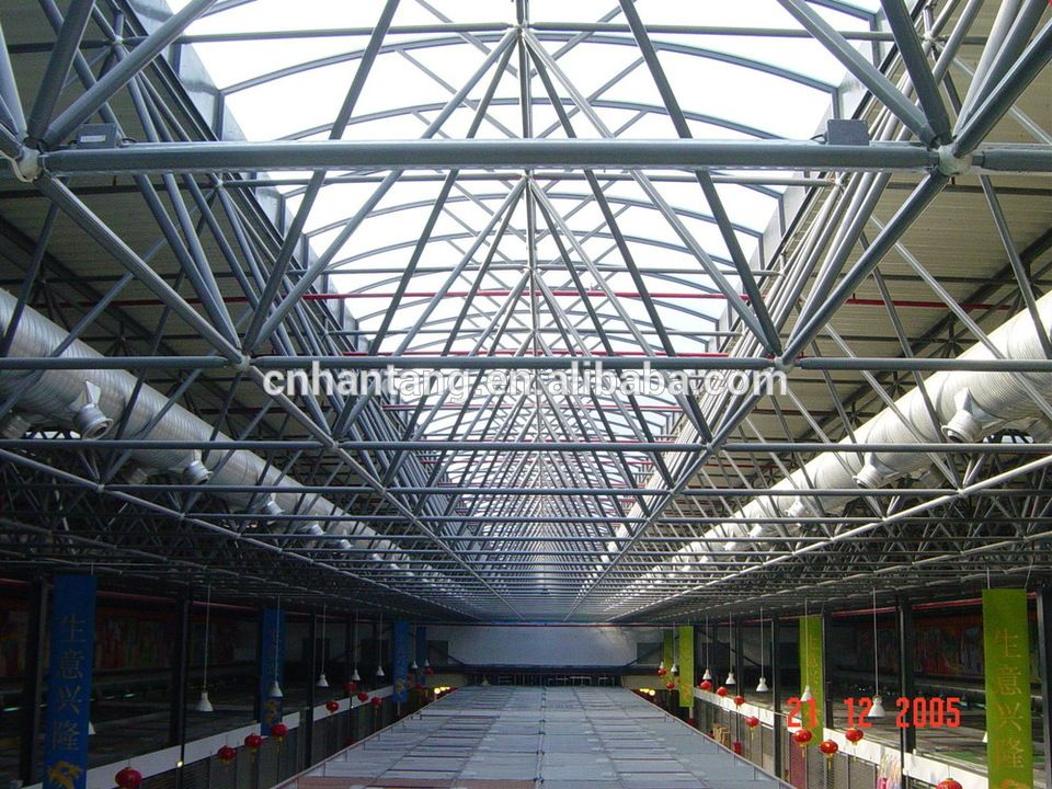 Large Span Red Dragon Shopping Mall Super Market Steel