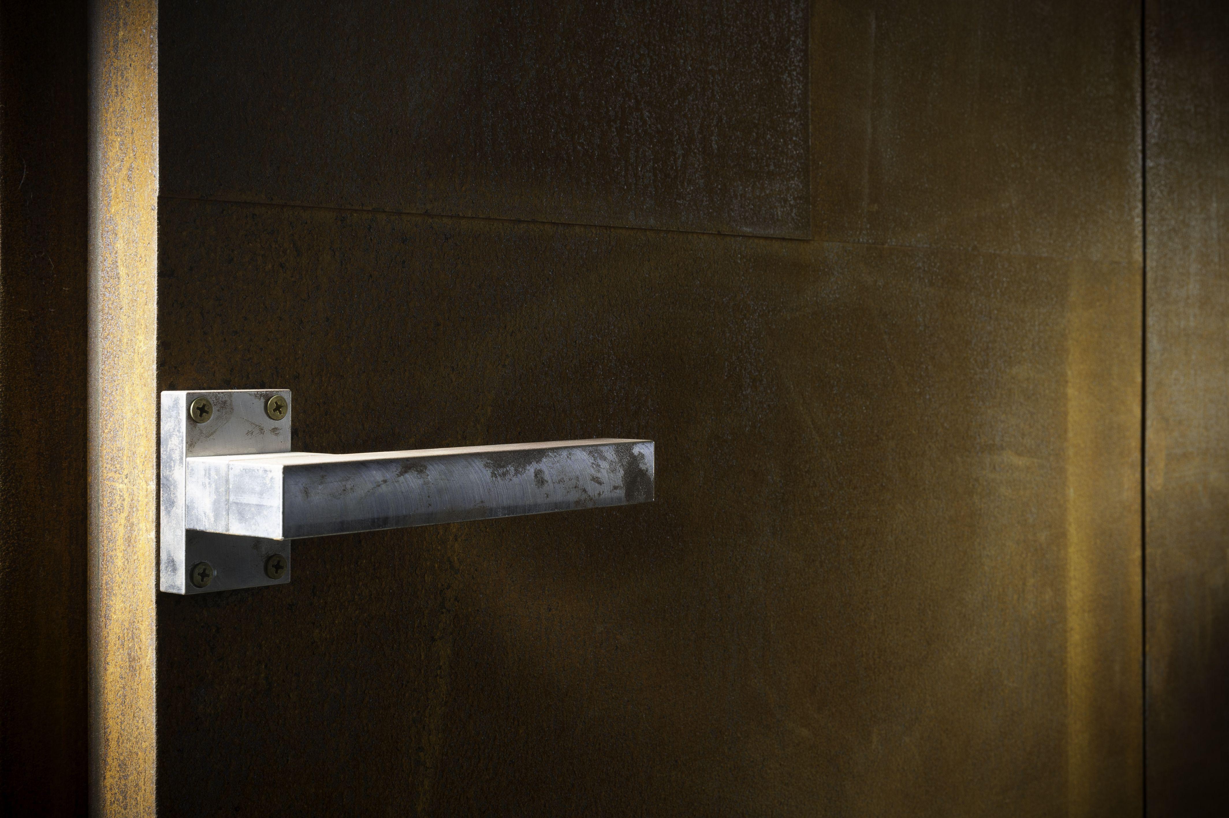 Corten Steel Entrance Door. Adam Steel Is A Leading Provider Of High End  Exposed Steel Designs For Luxury Homes.