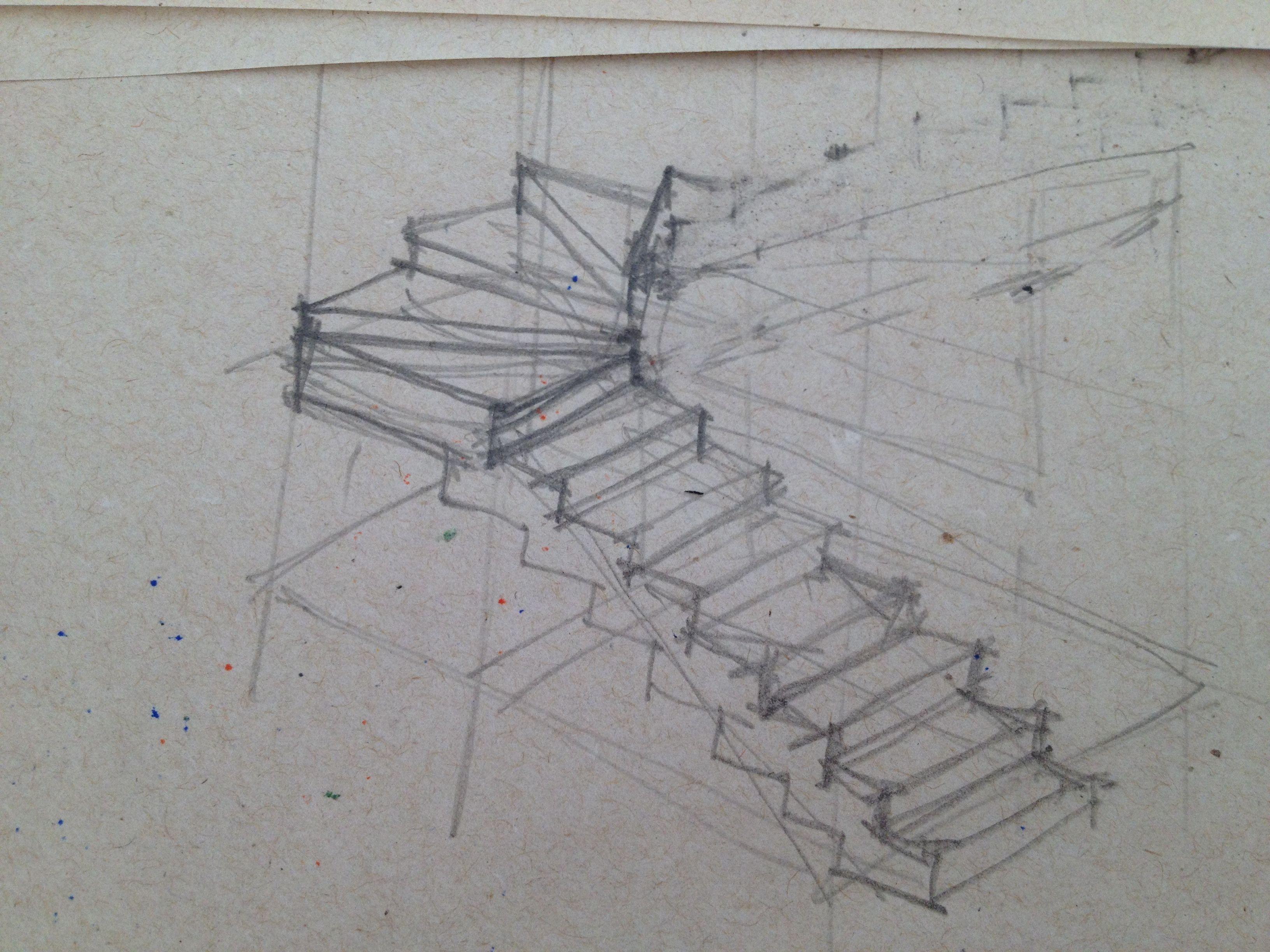 Escalera Manos Dibujo Dibujos A Mano Alzada Pinturas