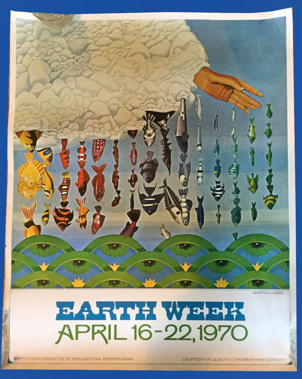 Earth Week 1970 Poster - found on ebay. | Hippie culture, Earth week,  Concert posters