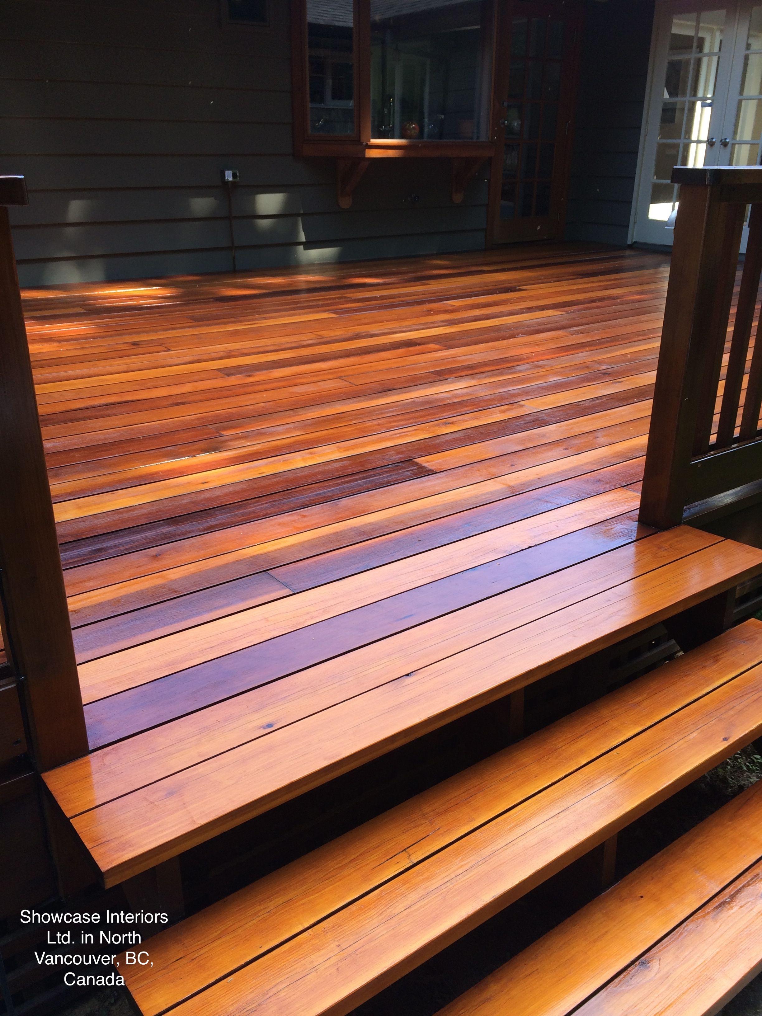 Custom Clear Cedar Deck Sikkens Srd No 05 Natural Oak