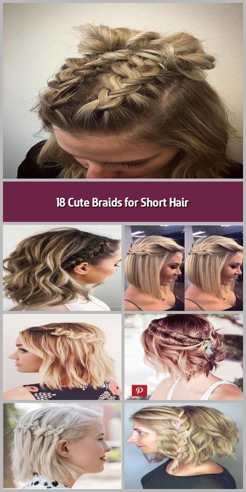 Braids For Short Hair Panosundaki Pin