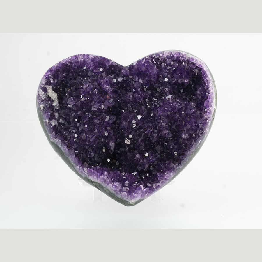 Amethyst heart, Brazil. A semiprecious stone that is actually a ...