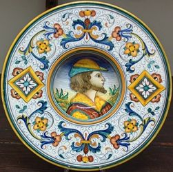 Ceramica DERUTA- Umbria Piatto con figura - Figurativo | Tiles ...