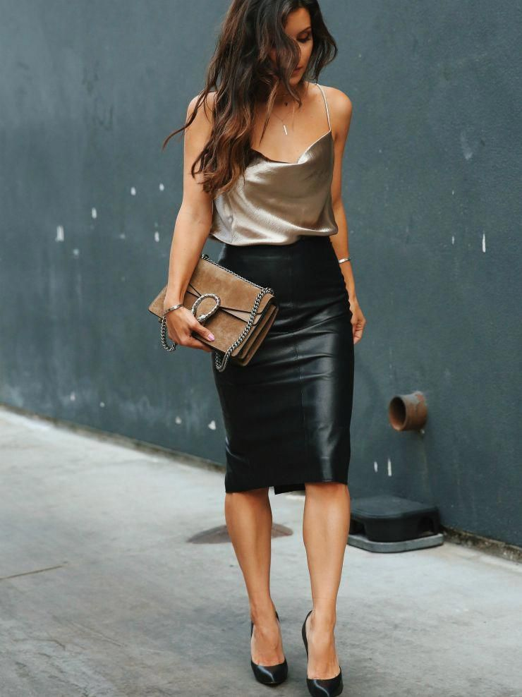 night out womens fashion which are really hot. 106654 #womensfashion  #nightoutwomensfashion | Leather skirt outfit, Fashion, Black leather skirts