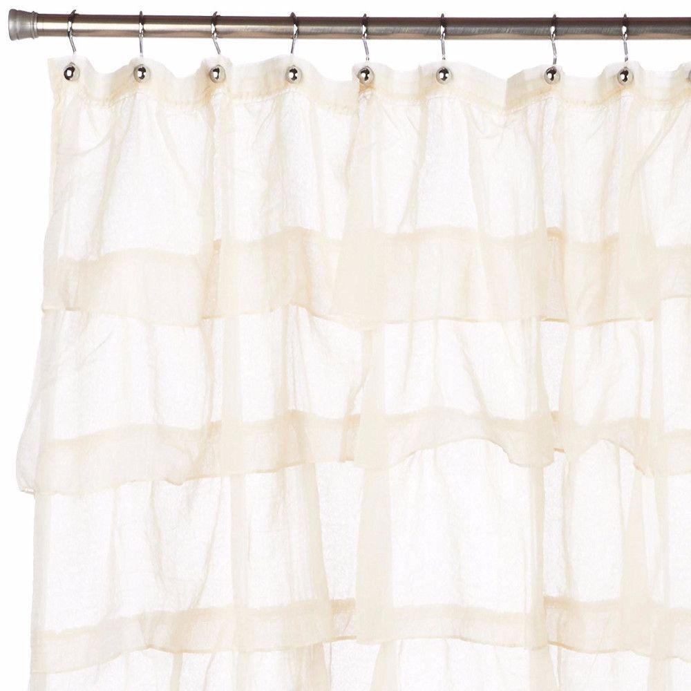 Carmen Ruffled Fabric Shower Curtain Fabric Shower Curtains Curtains House Styles