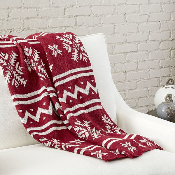 Griswold Fair Isle Throw (590 ILS) ❤ liked on Polyvore featuring ...
