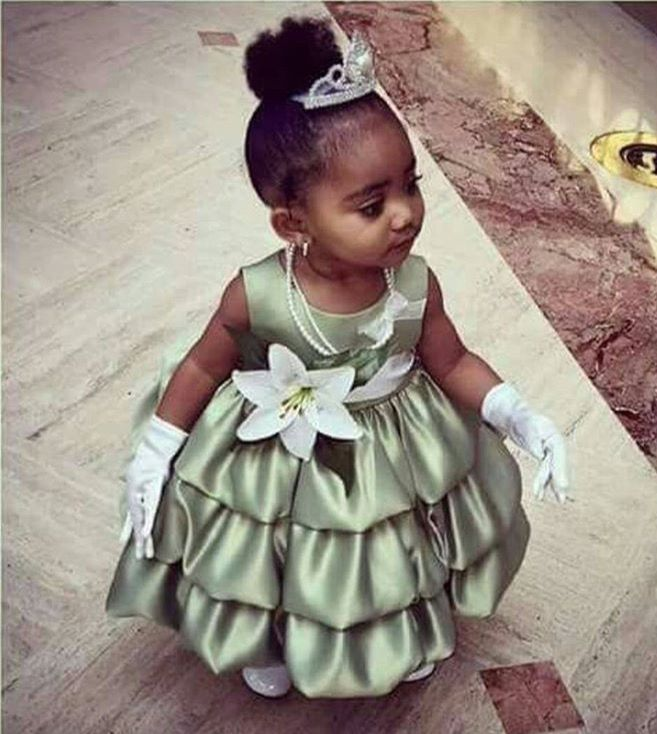 Princess Tiana Hair: Baby Girl Dressed Up Like Princess Tiana!!!