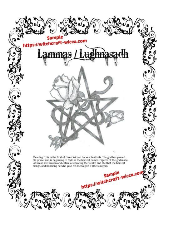 Lughnasadh Lammas Bos Pagan Wheel Of The Year Coloring Pages In