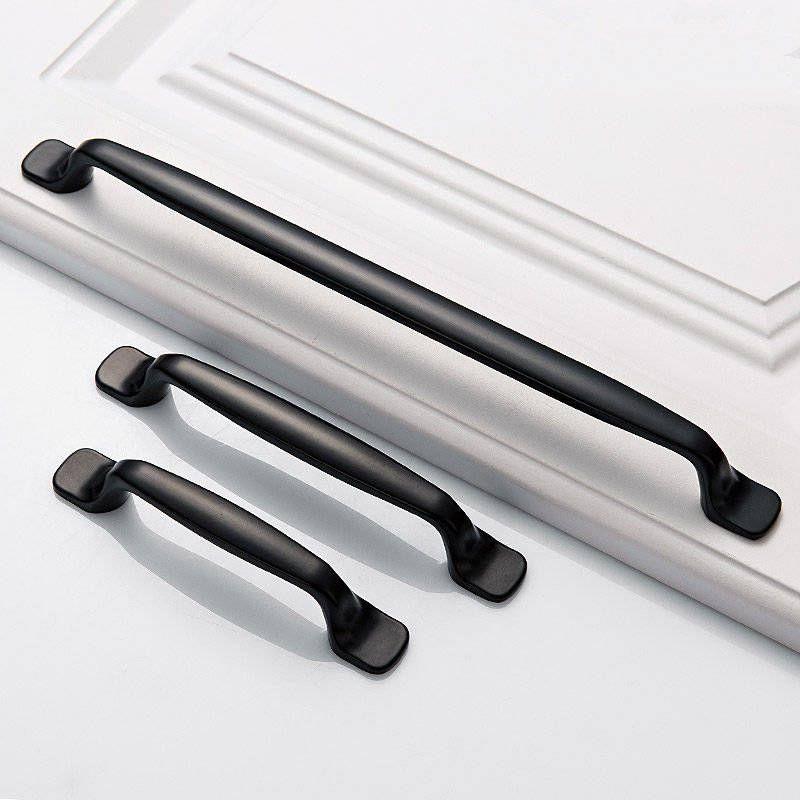 24 x Schwarz Schrankgriffe Möbelknöpfe Küchengriffe Schubladengriff Griff