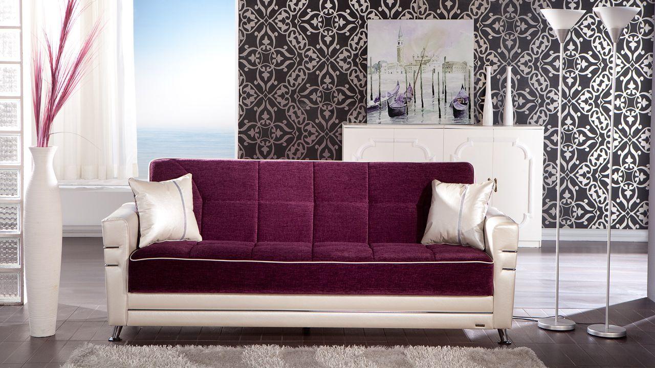 Twin Convertible Sofa w/Storage & Click Clack Sleeper