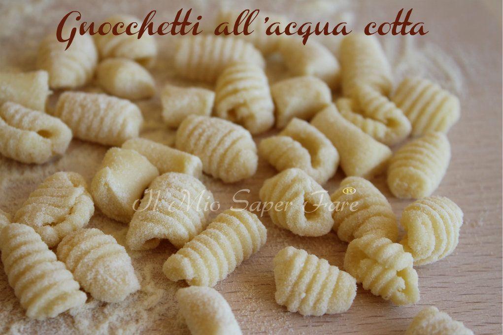 Gnocchi Con Semola Ricetta.Gnocchetti All Acqua Cotta Con Farina Di Semola Rimacinata Ricette Ricette Pasta Fatta In Casa Ricette Di Cucina