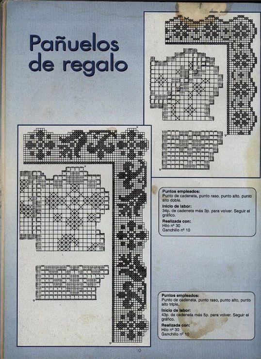 cenefas de crochet | barrados | Pinterest | Cenefas, Ganchillo y ...