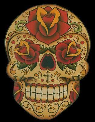 Imphamis Dia by Lil Chris Sugar Skull Canvas Giclee Tattoo Art Print