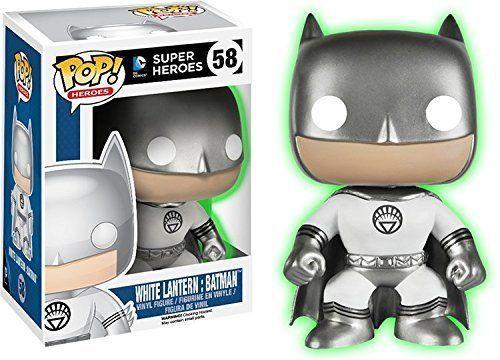 Funko Glow In The Dark White Lantern Batman Pop Vinyl Figure #FUNKO